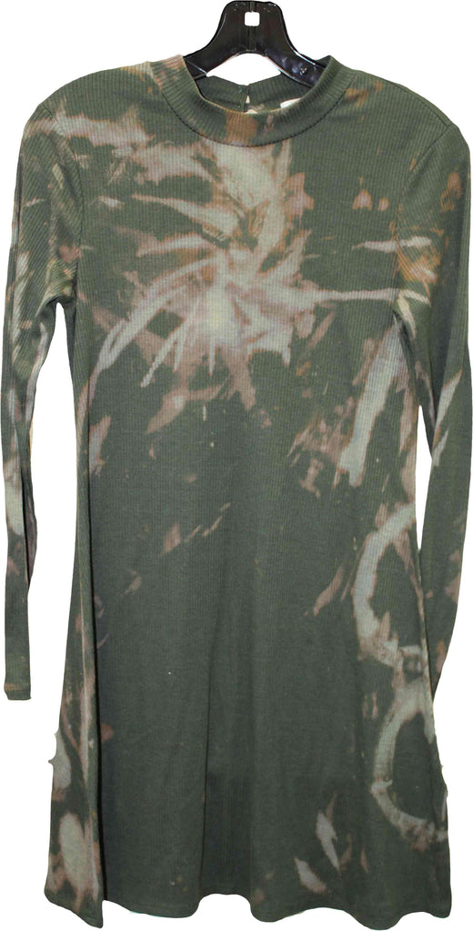 Wolfdelux Olive Green Sweater Dress, Medium - The North West Clothing