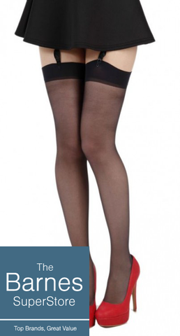 Black 15 Denier Sheer Stockings