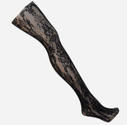 Plus Size Paisley Net Black Tights
