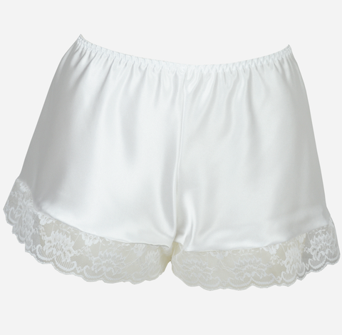 White Satin French Knickers