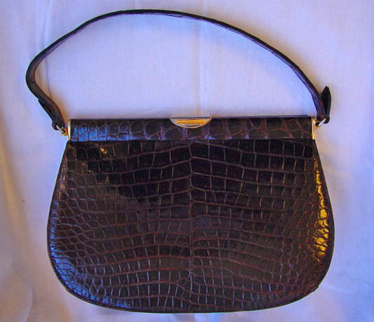 1950s Vintage Crocodile Purse
