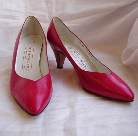 1980s Bruno Magli Fuchsia Pumps