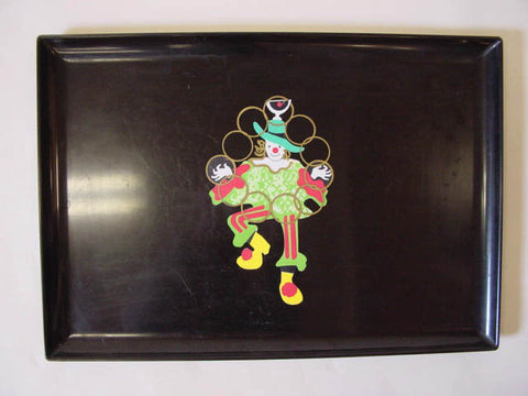 1950s Couroc Clown Tray
