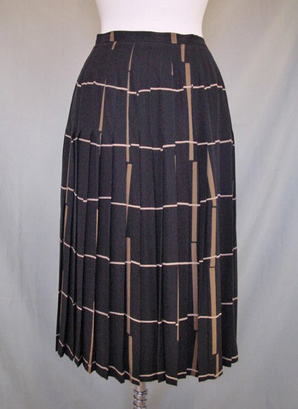1980s Guy Laroche Silk Skirt