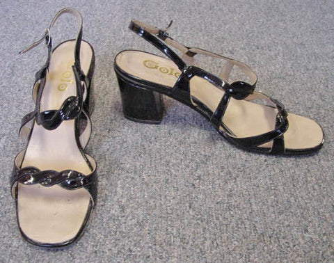 1970s Golo Patent Leather Sandals