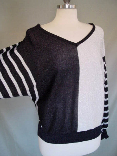 1980s Silver Stripe Sweater
