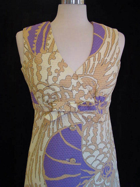 1970s Tori Richard Coral Reef Dress