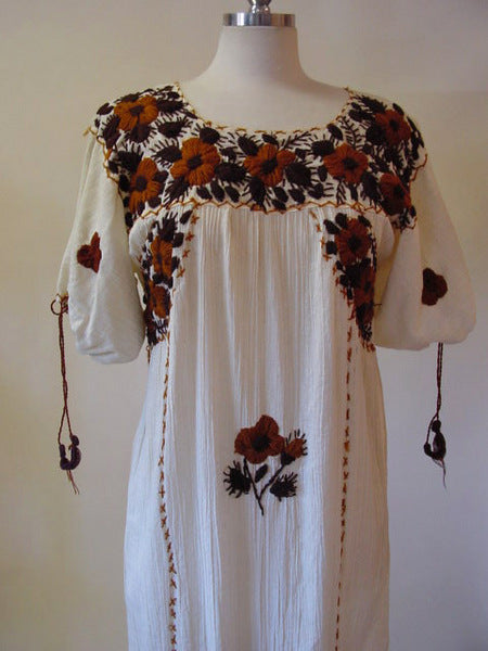 1970s Mexican Embroidered Dress