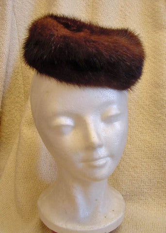 1950s Mink Pillbox Hat