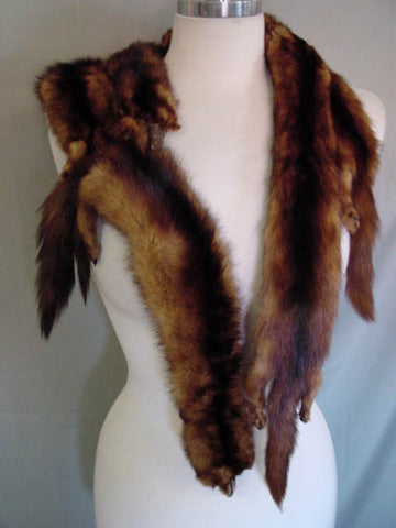 1940s Five Pelt Mink Wrap