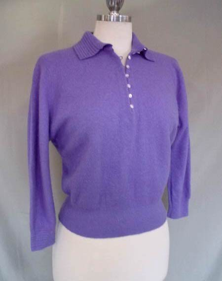 1950s Purple Darlene Minklam Sweater