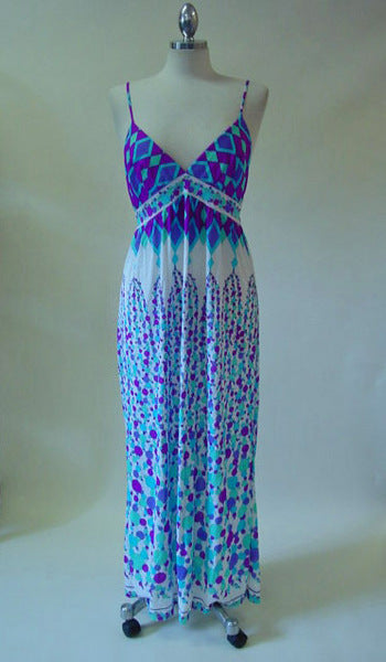 Vintage 1970s Emilio Pucci Purple Maxi Dress