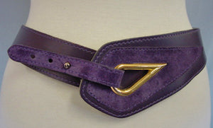 1980s Purple Hip Belt