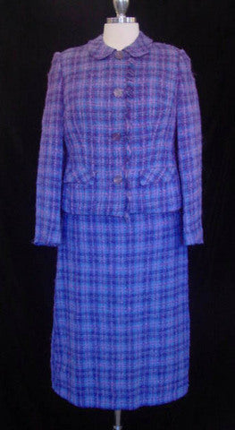 1960s Purple Mohair Check Suit