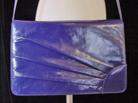 1980s Purple Sunburst Leather Purse