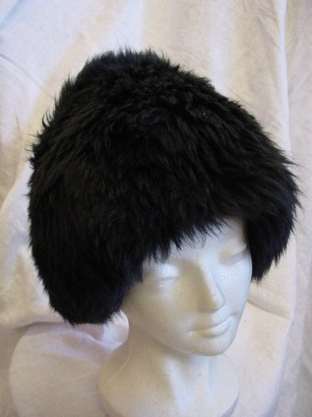 1960s Black Russian Fur Hat