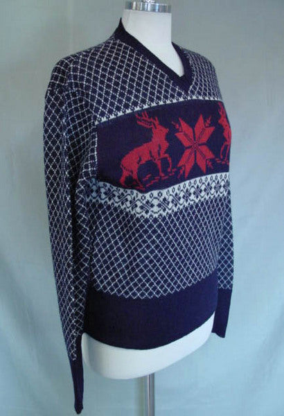 1950s Blue Ski Sweater