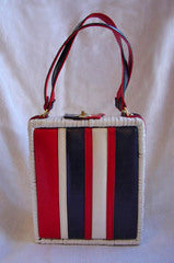 Daisy Fairbanks Vintage Boutique Vintage Clothing, Vintage Dresses, Vintage Fashion1960s Patriotic Basket Purse