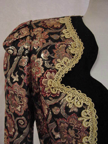 1980s Metallic Brocade Jacket
