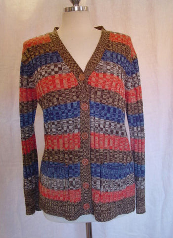 1970s Striped Cardigan Sweater
