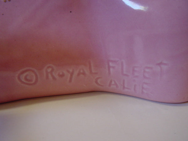 1950s Royal Fleet Pink Swans TV Lamp