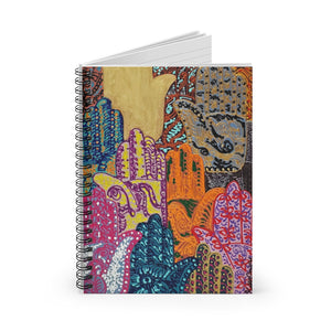 Hamsa Henna: Spiral Notebook - Ruled Line