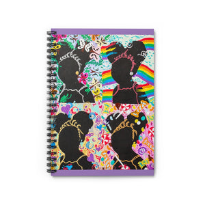 Black Girl Magic- Silhouette Series: Spiral Notebook - Ruled Line