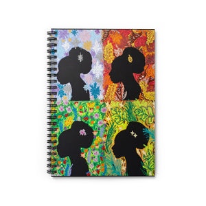 Four Seasons: Silhouettes Series--Spiral Notebook - Ruled Line