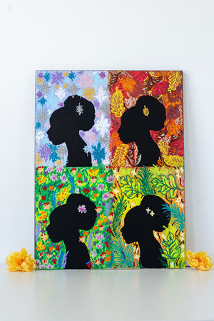 Four Seasons: Silhouettes Series (18 x 24 inches)