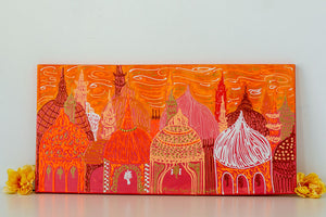 Little Orange Mosque Painting (12 x 24 painting)