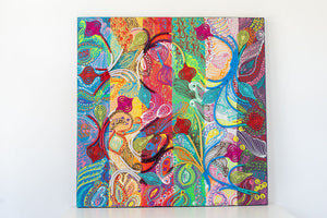 Paisley Abstract Art  (36 x 36 inches)