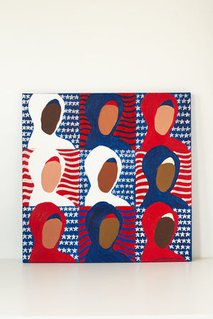 Americana Islamica (Unapologetically Muslim) 24 x 24 inches
