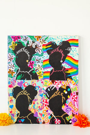 Black Girl Magic-Silhouette Series (16 x 20 inches)