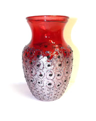 Sparkly Red and Black Dotted Vase