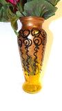 Gold and Black Swirl Vase