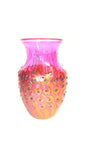 Pink and Rose Gold Dotted Vase