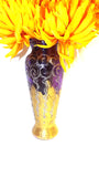 Glittery Gold and Purple Vase