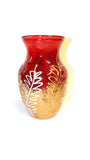 Red and Gold Floral Vase