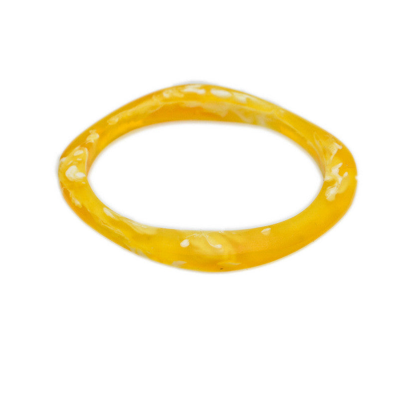 """Haiku"" Single Resin Bangle - Polka Luka Resin Jewellery"