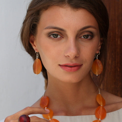 Thalassa Resin Earrings - Polka Luka Resin Jewellery