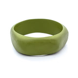 Havana Resin Bangle - Polka Luka Resin Jewellery