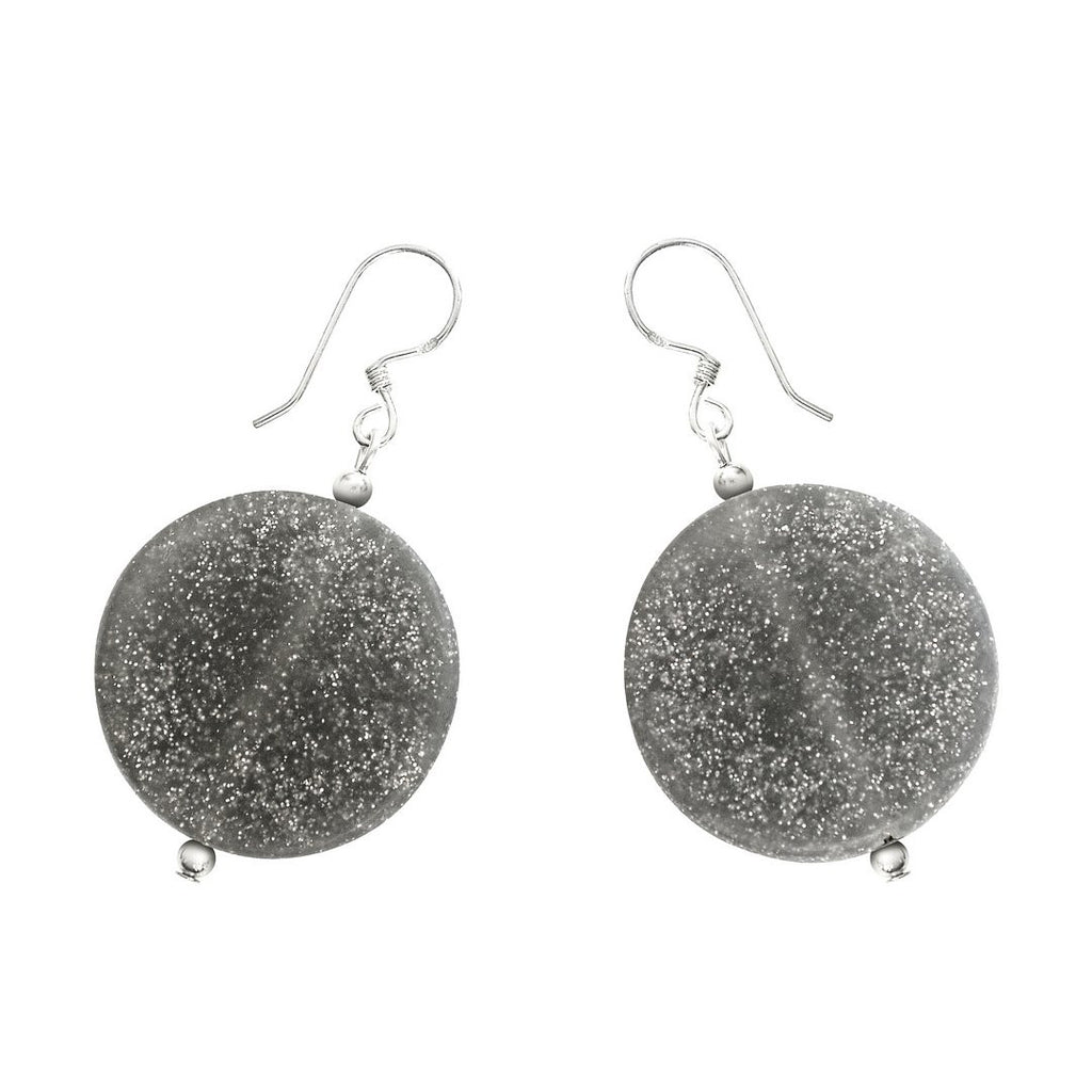 'Luna' Grande Earrings - Polka Luka Resin Jewellery