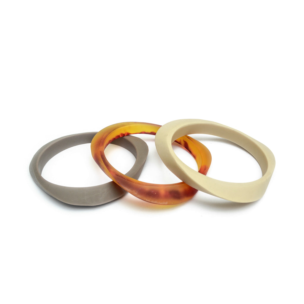 Naxos Triple Bangle Set - Polka Luka Resin Jewellery