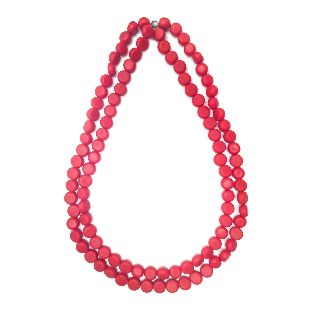 Silk Road Double Necklace - Polka Luka Resin Jewellery