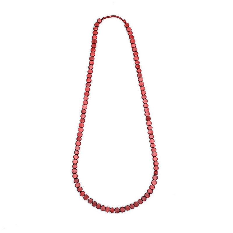 Edo Single Strand Wood Necklace - Polka Luka Resin Jewellery