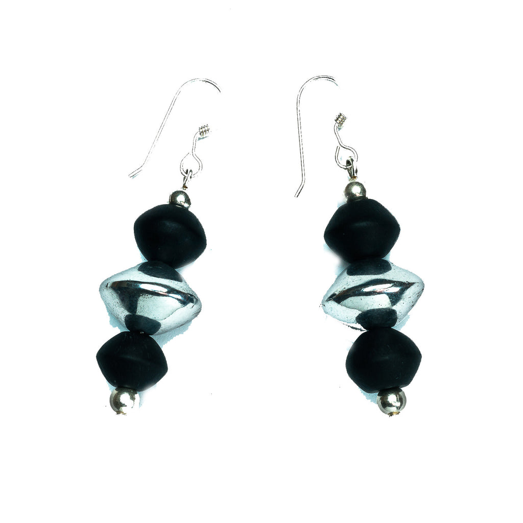 'Industriel' Earring- Lunette - Polka Luka Resin Jewellery