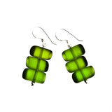 'Bamboo Forest' Resin Earrings - Polka Luka Resin Jewellery