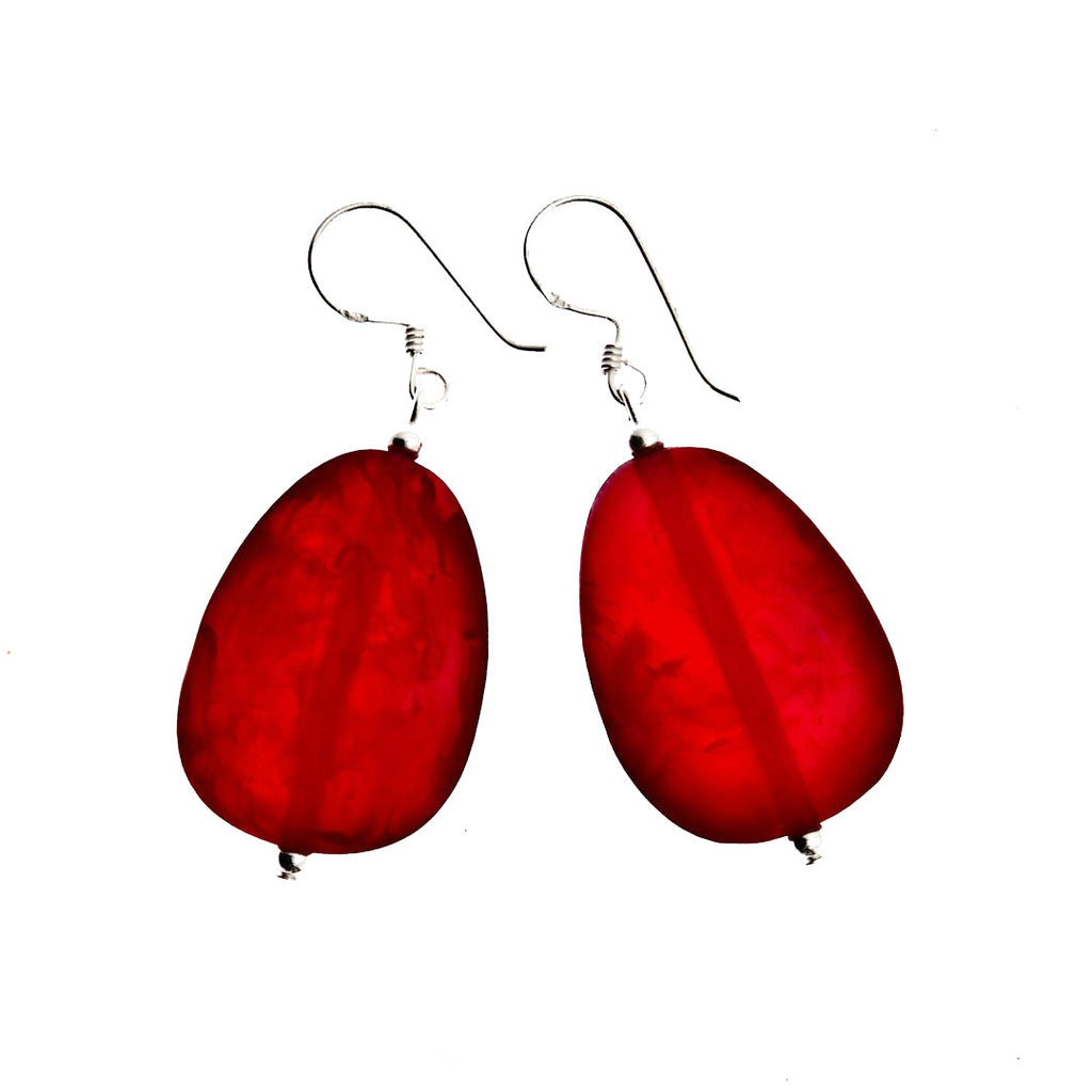 'Mekong' Resin Earrings - Polka Luka Resin Jewellery