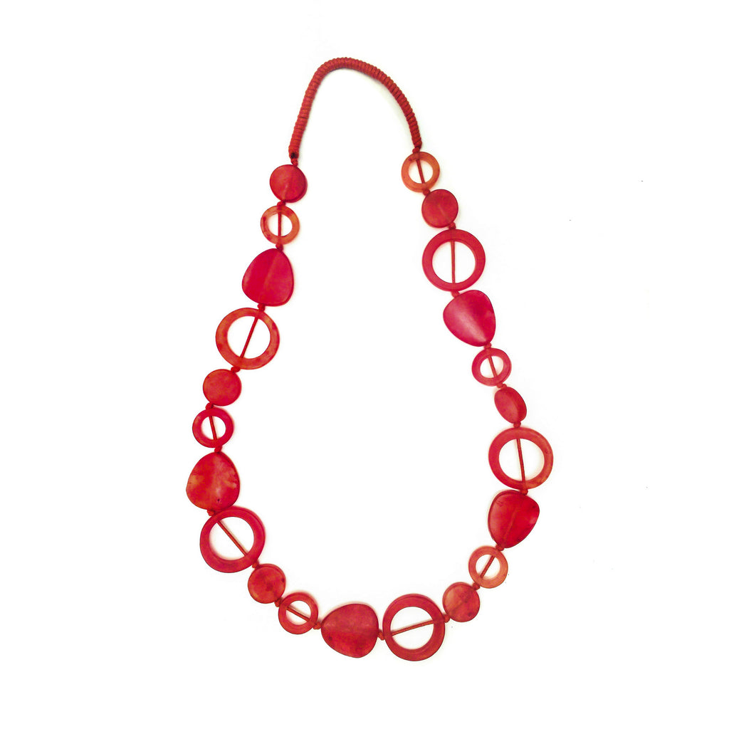 Tangier Long Resin Necklace - Polka Luka Resin Jewellery