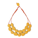 Wabi' Double Resin Necklace - Polka Luka Resin Jewellery